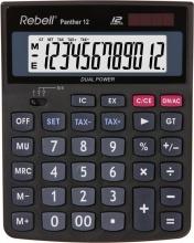 Rebell PANTHER12 Calcolatrice Panther 12 Desktop Calcolatrice di base Nero