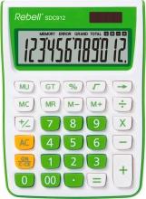 Rebell SDC912GR Calcolatrice da Scrivania 12 cifre Bianco Verde