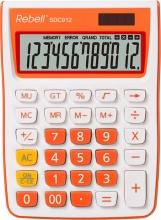 Rebell SDC912OR Calcolatrice da Scrivania 12 cifre Bianco Arancione