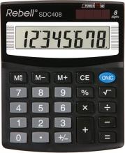 Rebell SDC 408 Calcolatrice da Scrivania 8 cifre Nero