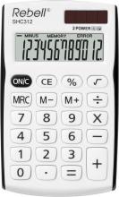 Rebell SHC312BK Calcolatrice da Scrivania 12 cifre Bianco Nero