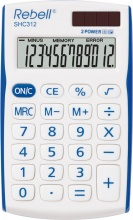 Rebell SHC312BL Calcolatrice da Scrivania 12 cifre Bianco Blu