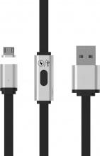 Redline RDL6140 Cavo USB 1 m 2.0 USB A Micro-USB A Nero Argento