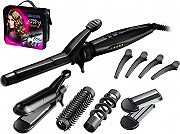 Remington S8670 Piastra Capelli Ceramica Hair Envy Glamour Multistyler Kit