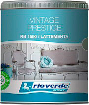 Renner RB1590-129 Vernice per Effetti Materici Shabby opachi 0.5 lt LatteMenta