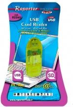 Reporter 2265 Card Reader USB Lettore di Schede SD  mmC colore Verde