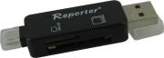 Reporter 2266 Card Reader USB  micro USB Lettore Schede SD  micro SD Nero