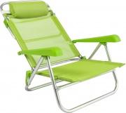 Rigamonti 2462500_Verdeacido Spiaggina in alluminio 7 posizioni Verde Acido