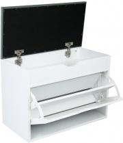 Rigamonti 4199000 Scarpiera con scomparto superiore con cuscino bianco
