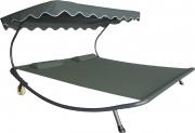 Rigamonti 4333002 Lettino prendisole 2 piazze con tetto 2 cuscini in acciaio