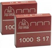Ro-Ma 1005418 Confezione 34 x 1000 Punti Acciaio