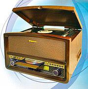 Roadstar HIF-1937TUMPK Giradischi USB 4 Watt Vintage Legno