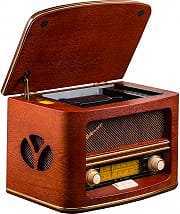 Roadstar Radio portatile analogica AM FM CD Mp3 28W col Marrone Retrò HRA-1500MP
