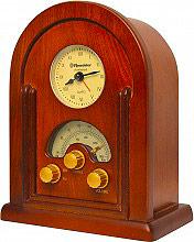 Roadstar Radio da tavolo FM Sveglia al quarzo 8 Watt Legno Vintage HRA-1430