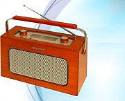 Roadstar Radio Portatile FM Radiolina Analogica Vintage effetto legno TRA1958NWD