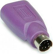 Roline Adattatore da USB a PS2 Adattatore Tastiera colore Viola 12.99.1073