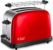 Russel Hobbs 23330-56 Tostapane 2 Fette scongelamento + raccoglibriciole Rosso