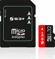 S3+ S3SDC10U132GB Micro SD 32 Gb Scheda di Memoria Classe 10 UHS-I