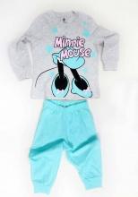 SABOR EE1388-MIN-3 Pigiama Bambina Invernale Taglia 4 Stampa Mickey Mouse Grigio DY50C3054
