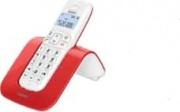 SAIET 13500784 Telefono Cordless SLIDE ROSSO Telefono DECT Rosso Bianco