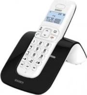 SAIET 13500785 Telefono Cordless SLIDE Telefono DECT Nero Bianco