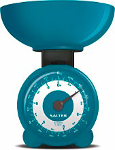 SALTER 139 BLKR Bilancia da cucina meccanica analogica Max 3 Kg col Blu