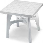 SCAB 1015 Tavolo da Giardino Resina Smontabile Quadro 80x80 cm Bianco  Quadromax