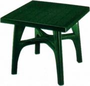 SCAB 1066 Tavolo da Giardino Resina Smontabile Quadro 80x80 cm Verde  Quadromax
