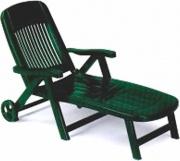 SCAB 1258 Lettino Prendisole Pieghevole Giardino Resina colore Verde  California