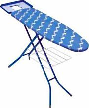 SCAB Asse da stiro 122x38 cm Altezza reg. max 96 cm Poggiaferro 2001 Delfino Blu