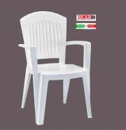 SCAB SC1900 Poltrona Resina Monoblocco Bianco  Superelegant