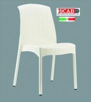 SCAB SG2635-11 Sedia da Esterni effetto Rattan Giardino Lino  Olimpia Trend