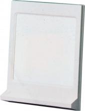 SIGLA 450 Specchio bagno parete con mensola 38x15x50h cm Bianco  Athena