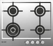 SMALVIC 1013324000 Piano Cottura 4 Fuochi a Gas Incasso 60 cm Acciaio Inox