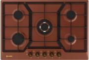 SMALVIC PD75V 4G1TC GL MR Piano cottura 5 Fuochi a gas 75 cm incasso Rame