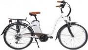 SMARTWAY C1-L04S6-W Bicicletta elettrica E-bike 250W Bianco  City Bike