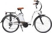 """SMARTWAY C1-L4S6-61W Bicicletta Elettrica E-bike 250 W Ruote 26"""" max 30km Bianco"""