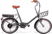SMARTWAY F3 Bicicletta elettrica E-Bike Bici Pieghevole 200 W 20 km Grigio