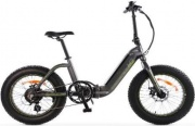 SMARTWAY M3 Shining Titanium Bicicletta Elettrica E-bike Bici Pieghevole Fat Bike M3-RBLT2-T