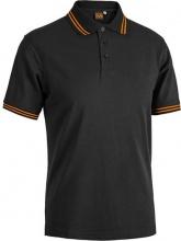 SOCIM E0486AL Maglietta Polo Cotone 100% con Colletto Tg. L Nero Arancio