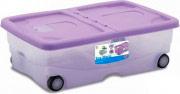 STEFANPLAST Contenitore Multiuso con ruote 26 lt 60x40 assortiti 13021 STEFANBOX