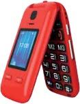 """SAIET 13500752 Vista Smartphone 2.4"""" 100 G Rosso"""