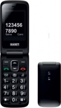 "SAIET 13500879 Compact Smartphone 2"" 80 G Nero"