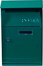 Sainty TX0084 Cassetta Postale Esterno in Acciaio con Serratura Colore Verde