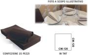 Salento Tnt T336089 Tovaglia Coprimacchia Tnt 120x120 Set 25 pezzi Marrone