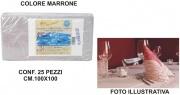 Salento Tnt T439405 Tovaglia Coprimacchia Carta 100x100 Set 25 pezzi Marrone