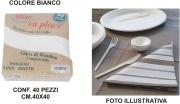 Salento Tnt T439986 Tovaglioli Fibra Bamboo cm 40x40 Set 40 pezzi Bianco