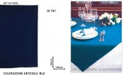 Salento Tnt TNT213 Tovaglia Coprimacchia Tnt 100x100 Set 25 Pezzi Blu