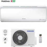 Samsung AR12RXFPEWQNEU + AR12RXFPEWQXEU Climatizzatore Inverter 12000 Btu Condizionatore F-AR12MLD Maldives