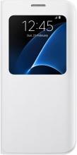Samsung EF-CG935PWEGWW Cover Custodia a Libro con Finestra Galaxy S7 Edge Bianco